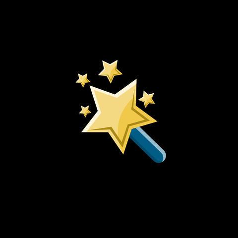 Magic Wand Flat Icon Animation