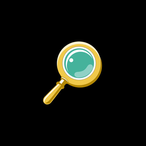 Magnifying Glass Flat Icon Animation