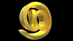 At sign symbol rotate email internet web social network e-mail digital loop 4k Live Action