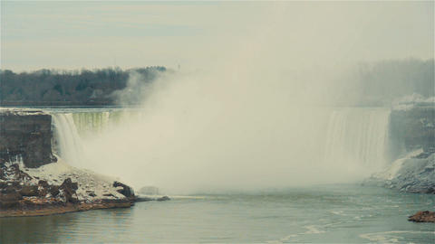 Niagara Falls, Canada, Video - The falls at winter Footage