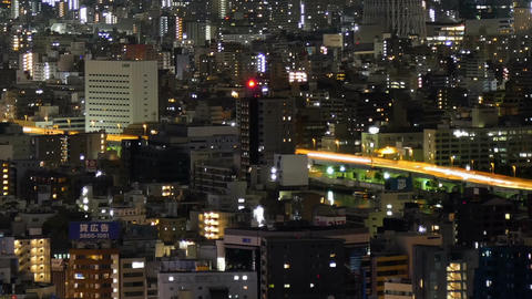 Elevated timelapse of Tokyo downtown city illumination 画像