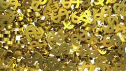 Dollar signs symbols fill screen transition money bank business finance tax 4k Footage