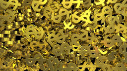 Dollar signs symbols fill screen transition money bank business finance tax 4k ビデオ