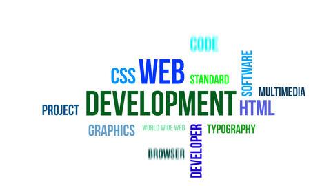 Kinetic typography - web development Animation