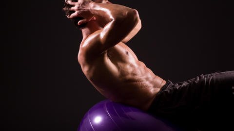 Athletic Male Fitness Training Workout Footage