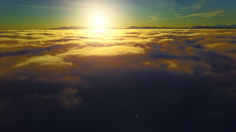 Above the Clouds At Sunrise Footage