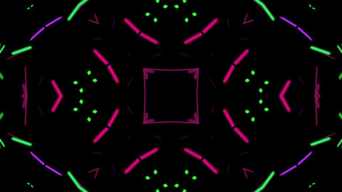 Neon VJ Kaleidoscope Loop Animation