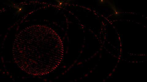 Glow Spheres Orange Loop Animation