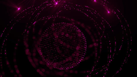 Purple Glow Spheres Loop Animation