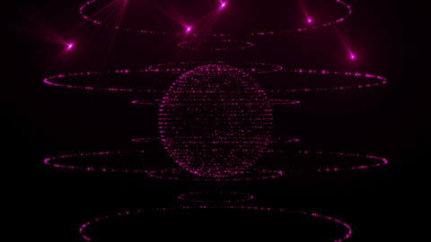 Roatating Purple Glow Sphere Loop Animation