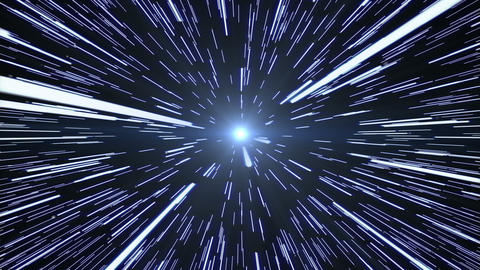 Hyperspace Warp Travel Animation