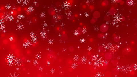 Red Winter Snowflakes Background, Stock Animation