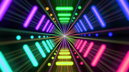 Colorful neon tunnel shuttle 1 Animation