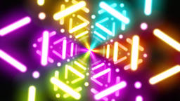 Colorful neon tunnel shuttle Animation