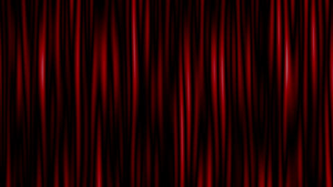 Highly detailed 3d animation of curtain. Seamless loop Stock Video Footage
