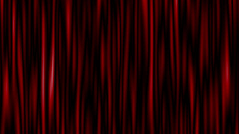 Highly detailed 3d animation of curtain. Seamless loop Animation