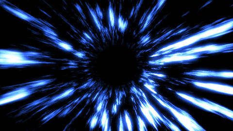 Futuristic light tunnel. Abstract background. Seamless loop Animation