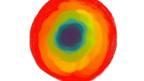 Abstraction in the form of a circle Stock Video Footage