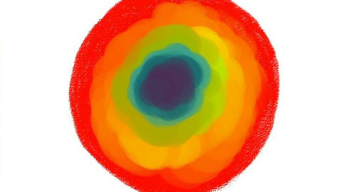 Abstraction in the form of a circle Animación