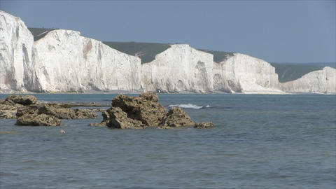 Seaford. White cliffs of the Seven Sisters Footage