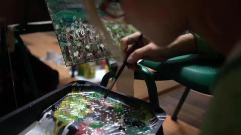 Art Painting Paint Palette Footage