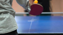 Slow Motion Close Up Serve Of A Ping Pong In Table Tennis Footage
