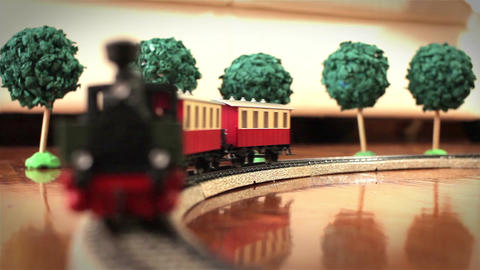 Miniature Model Train Footage