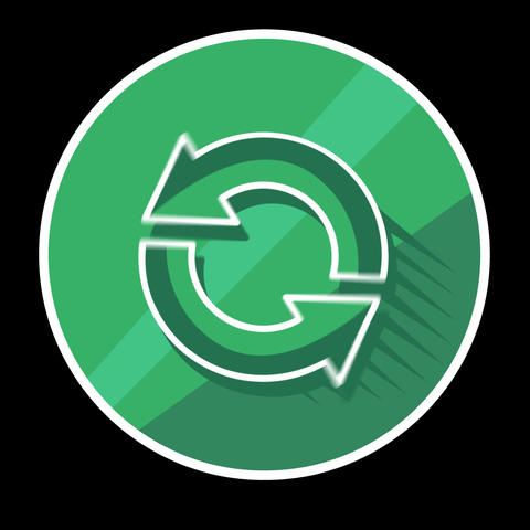 Recycle Flat Icon With Alpha Channel Animation