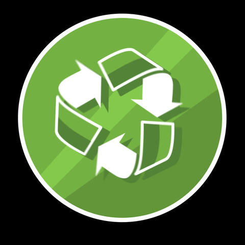 Recycle Flat Icon With Alpha Channel