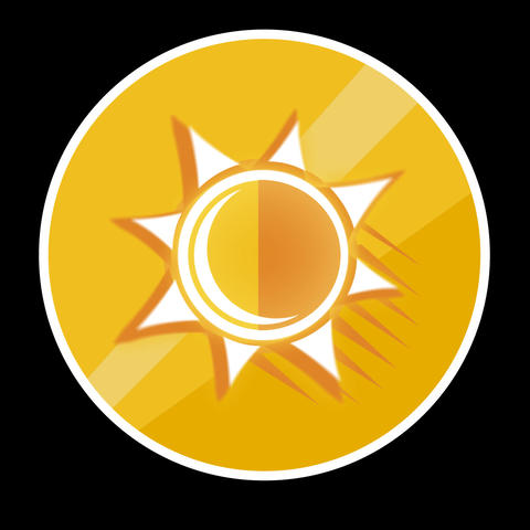 Sun Flat Icon With Alpha Channel Animation