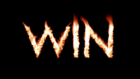 Win hot text brand branding iron epic winner metal flaming heat flames 4K Live Action