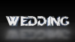 Luminescent Blue 'WEDDING' [Loop] Animation