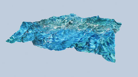 Digtal animation of violent ocean water Animation