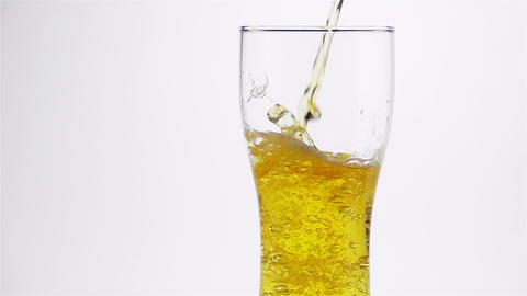 Light Beer is Poured into the Glass Footage