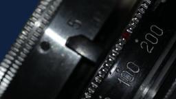 retro camera lens close-up Footage