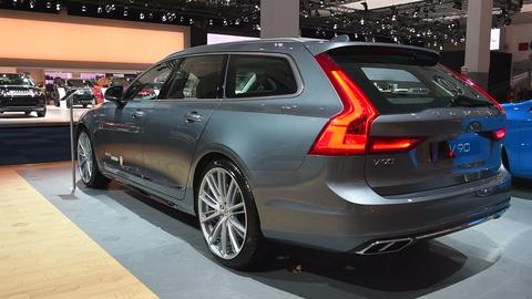 Volvo V90 luxury estate car Footage