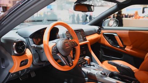 Nissan Skyline GT-R high tech sports car Footage