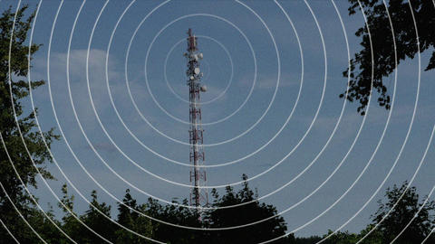 Signal from the radio tower Animation