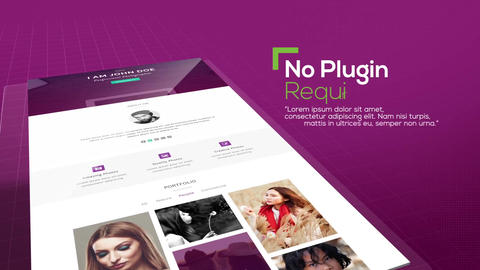 Website Showcase After Effects Template