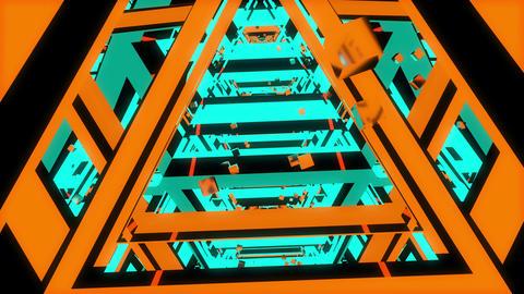 Tunnel Chaos 4K 05 Vj Loop Animation