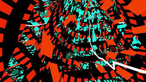Tunnel Chaos 4K 07 Vj Loop Animation