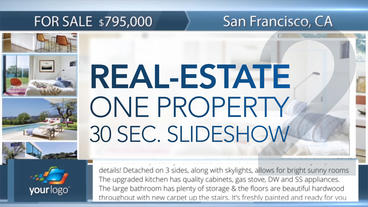 Real-Estate One Property 30s Slideshow 2 - After Effects Template After Effects Template