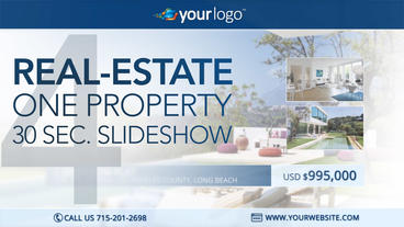 Real-Estate One Property 30s Slideshow 4 - After Effects Template After Effects Project