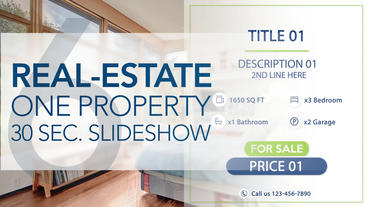 Real-Estate One Property 30s Slideshow 6 - Apple Motion and Final Cut Pro X Temp Apple Motion Template