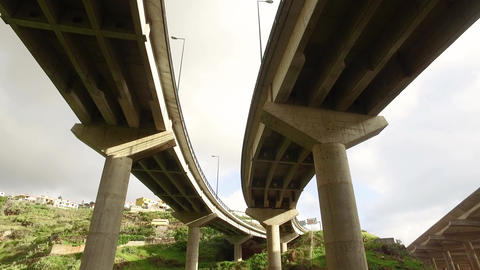 Bottom View of the Road Junction near Runway Footage