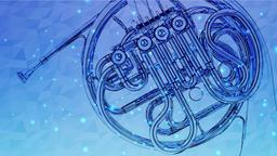 Horn Blue Animation