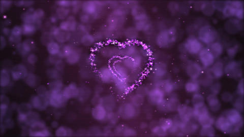 Heart Tunnel Motion Background Animation - Loop Purple Animation