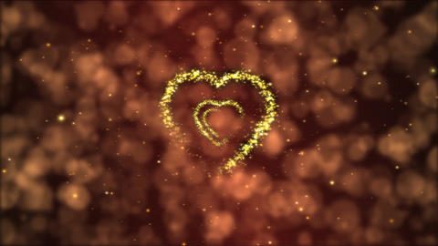 Heart Tunnel Motion Background Animation - Loop Fiery Red Animation