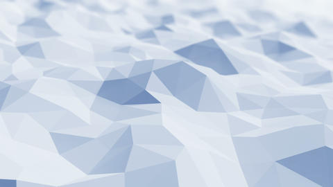 Beautiful Blue Polygonal Surface Waving in Looped 3d... Stock Video Footage