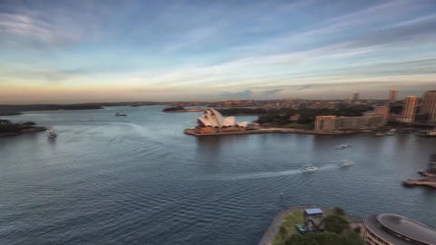 Sydney View of The Bay From The Bridge Harbor Footage